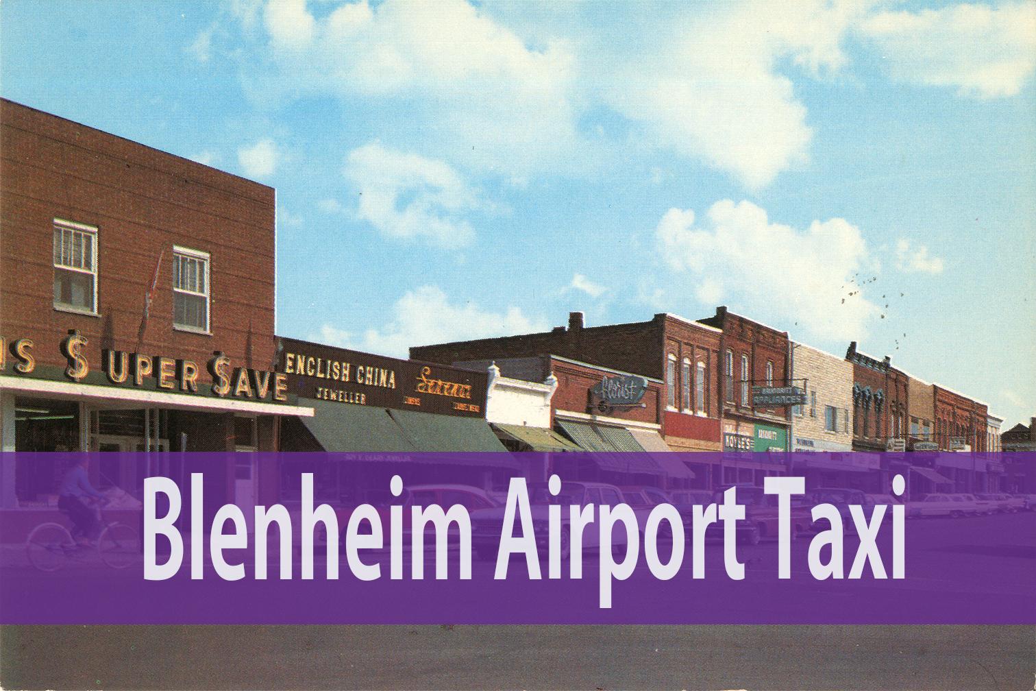 Blenheim Airport Taxi