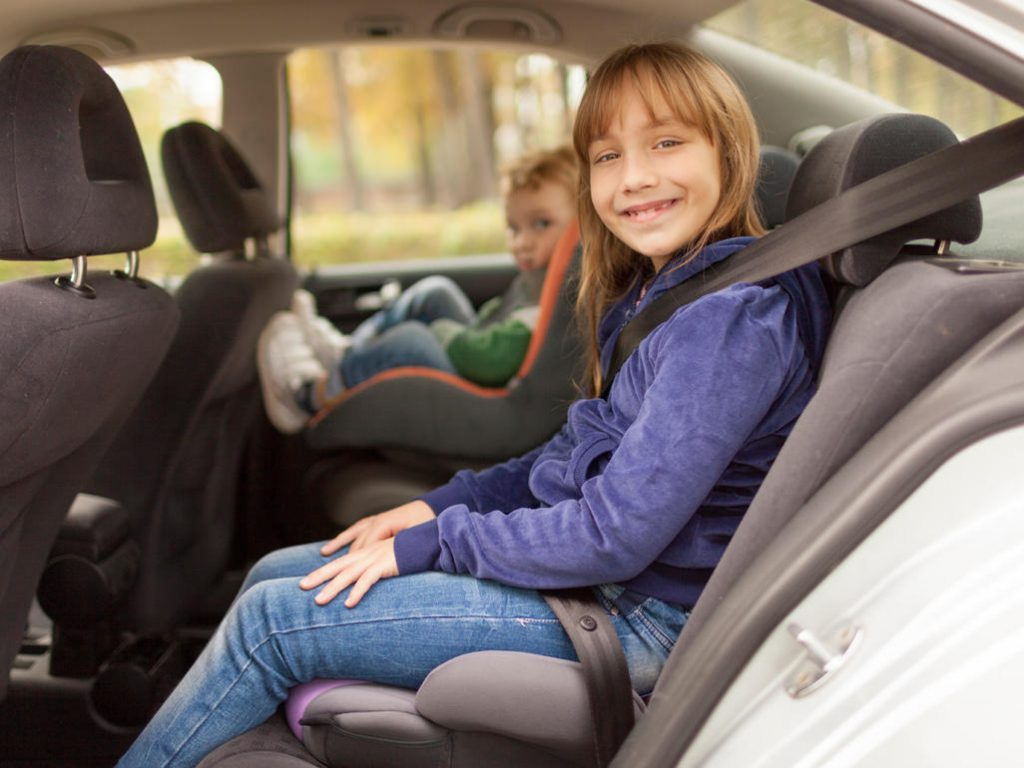 Comfortable Seats For Child On Airport Taxi