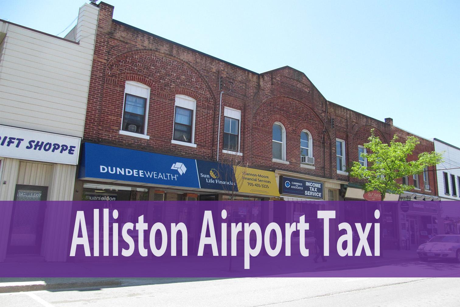 alliston airport taxi